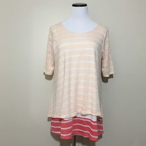 Anthropologie Puella Stripe Mix Tunic